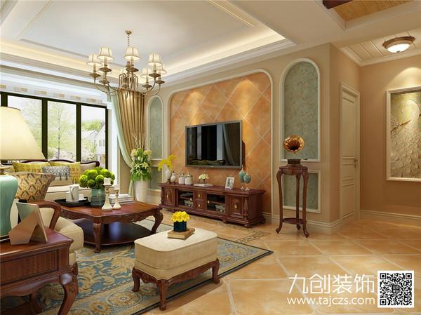【灵芝丽园】清新乡村美式风格-泰安九创装饰效果图