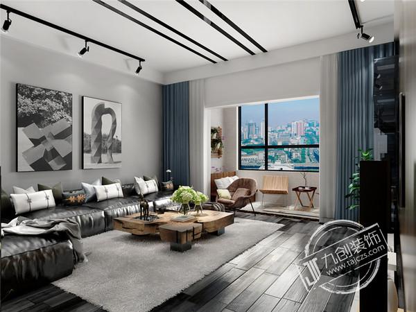 泰安九创装饰泰山云谷150平米北欧、工业装修风格