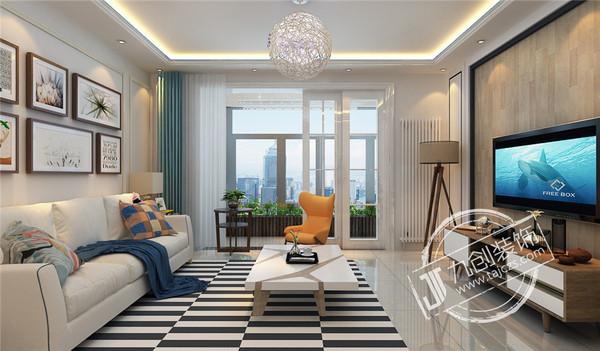 泰安九创装饰新城国际150平米装修效果图