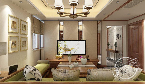 泰安山和院子206平米3层中式风格装修效果图
