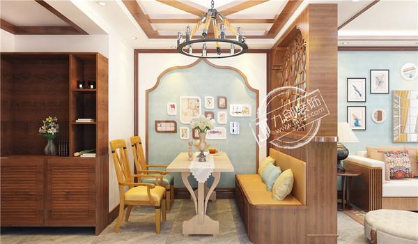泰安九创装饰新兴园98平米东南亚风格